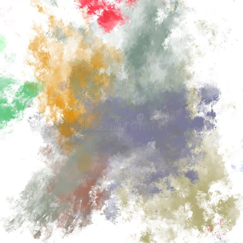 Brushed a peint le fond abstrait Brosse frottée Papier peint abstrait Peinture illustration de vecteur