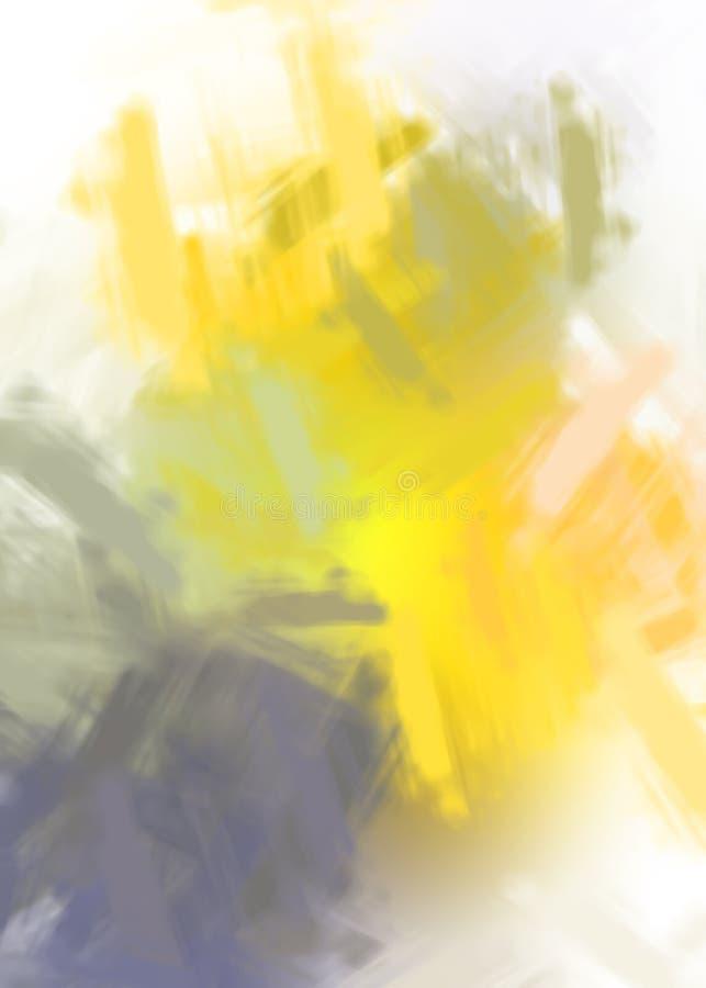 Brushed pintó el fondo abstracto Pintura frotada ligeramente cepillo Movimientos de la pintura Ilustración abstracta foto de archivo libre de regalías