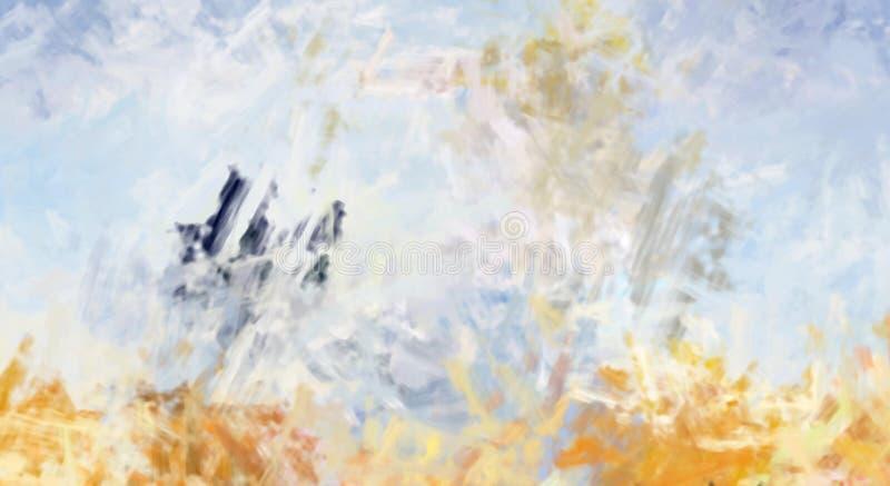 Brushed pint? el fondo abstracto Pintura frotada ligeramente cepillo Movimientos de la pintura Ilustraci?n abstracta foto de archivo