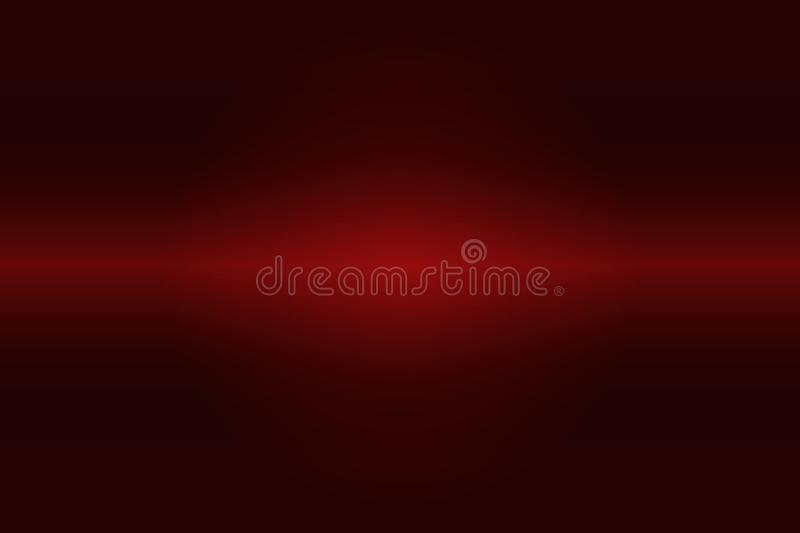 Brushed red metal, Christmas or Valentine`s background. Red light on black background.Black and red gradient background.Red abstract pattern for backgrounds stock illustration