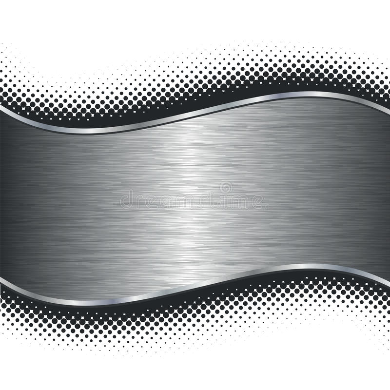 Brushed silver metal background and black halftone