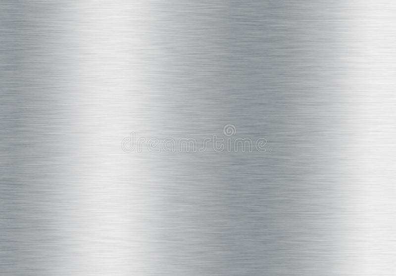 Brushed silver metallic background stock image