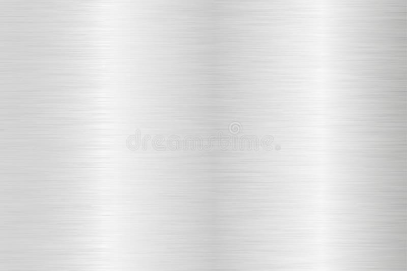 Brushed steel background. Metal texture. Vector 3d illustration royalty free illustration