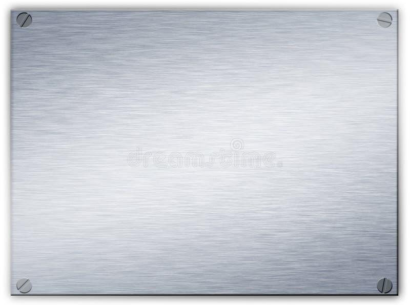 Brushed steel metal plaque vector illustration