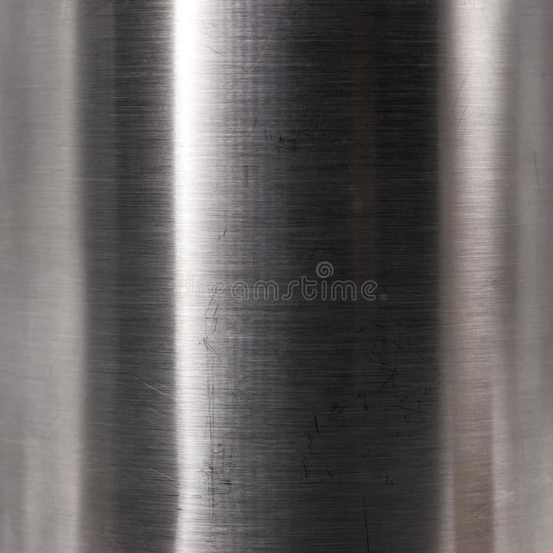 Brushed steel plate texture. Hard metal material background. Reflection surface royalty free stock photo