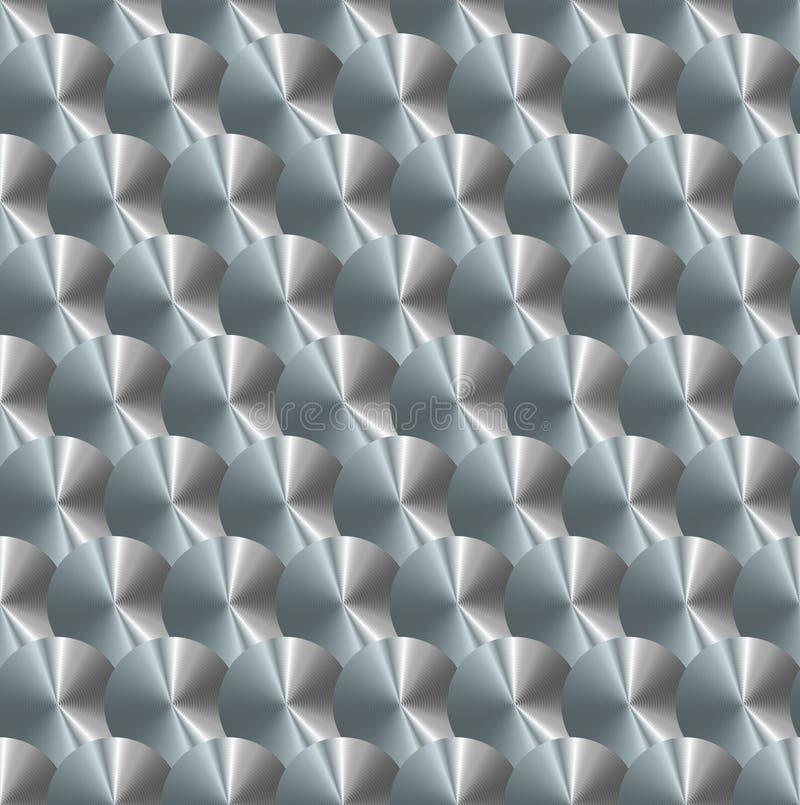 Brushedmetalplate stock de ilustración