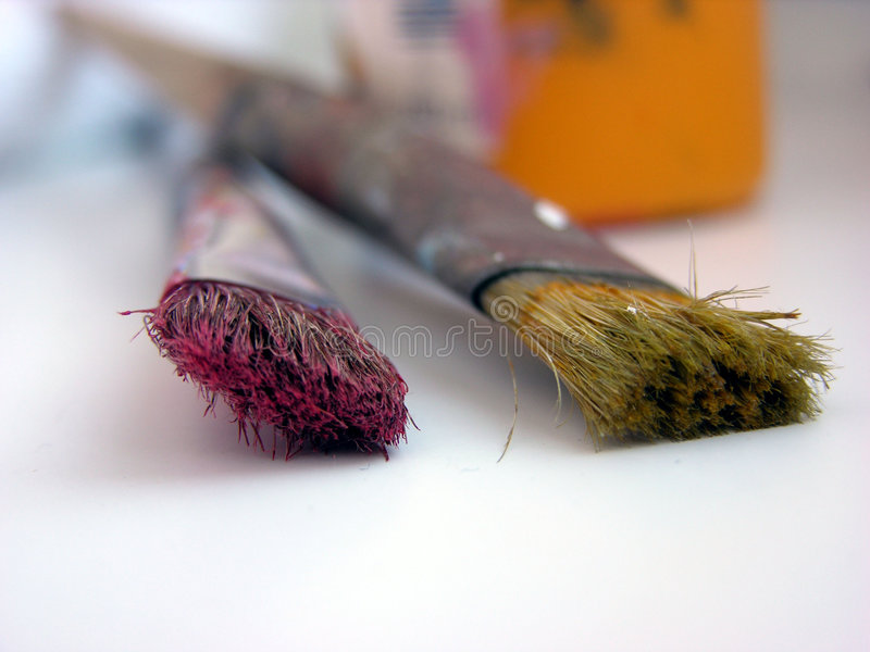 Download Brushes stock photo. Image of paint, painting, pair, objects - 211402