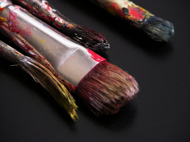 Download Brushes stock image. Image of colors, painting, hair, brush - 264389