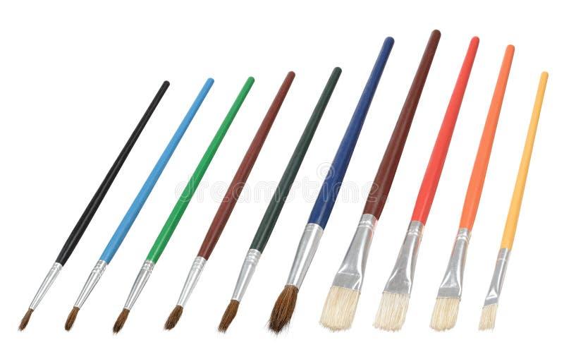Brushes. Fine brushes painting paintbrush set royalty free stock images
