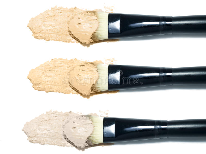 brushes fundamentprövkopior arkivbilder
