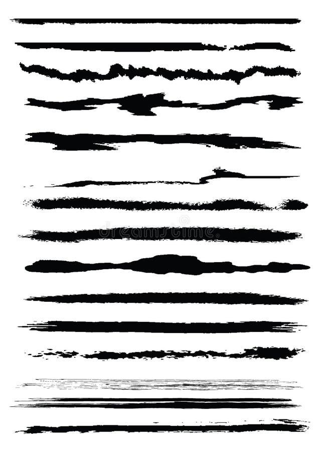 brushes grunge vektor illustrationer
