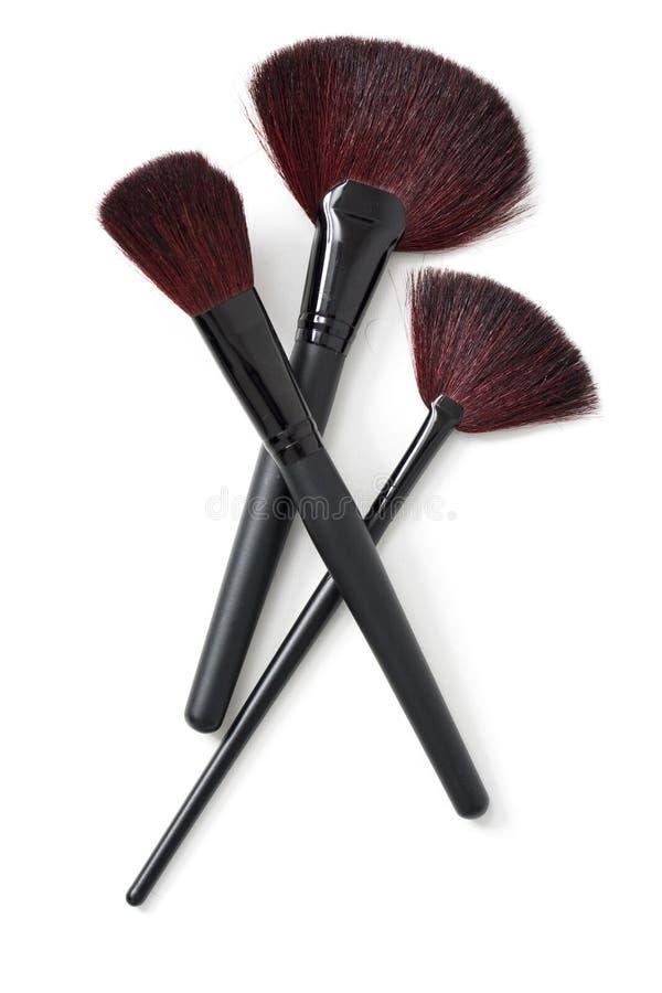 brushes makeupprofessionelln arkivfoton