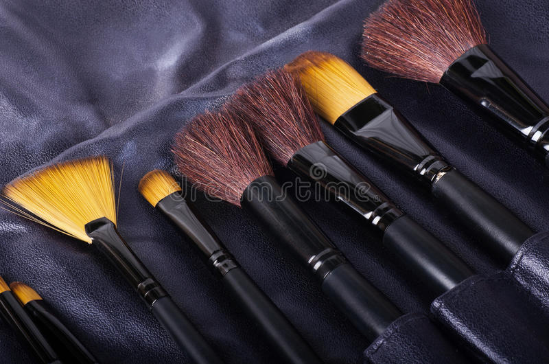 brushes olik makeup arkivbild