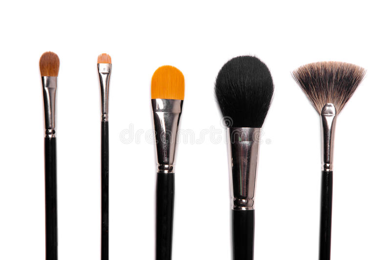 brushes samlingssmink royaltyfri bild