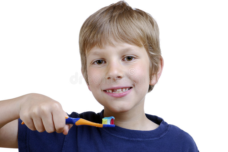 Brushing teeth stock photos