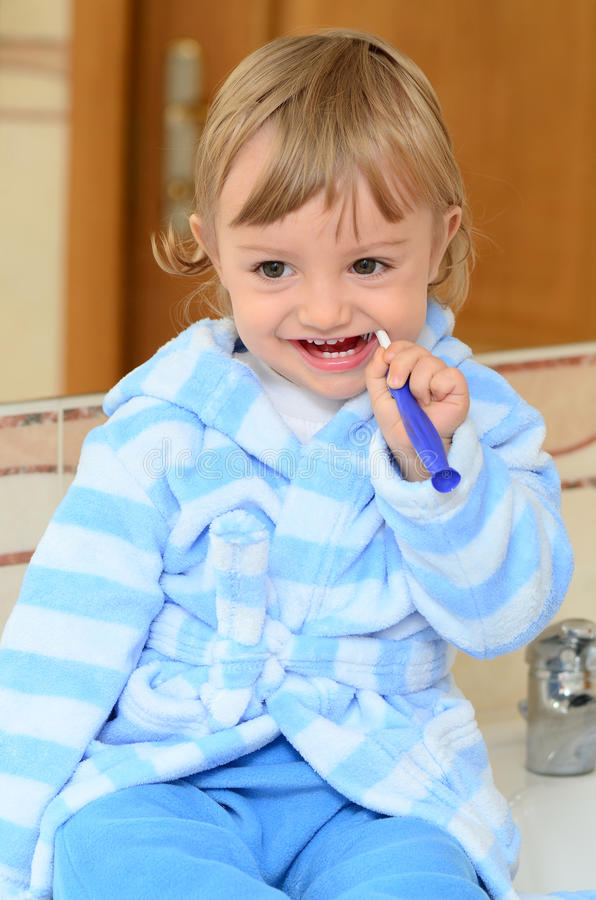 Download Brushing teeth stock image. Image of brush, clean, childhood - 27185369