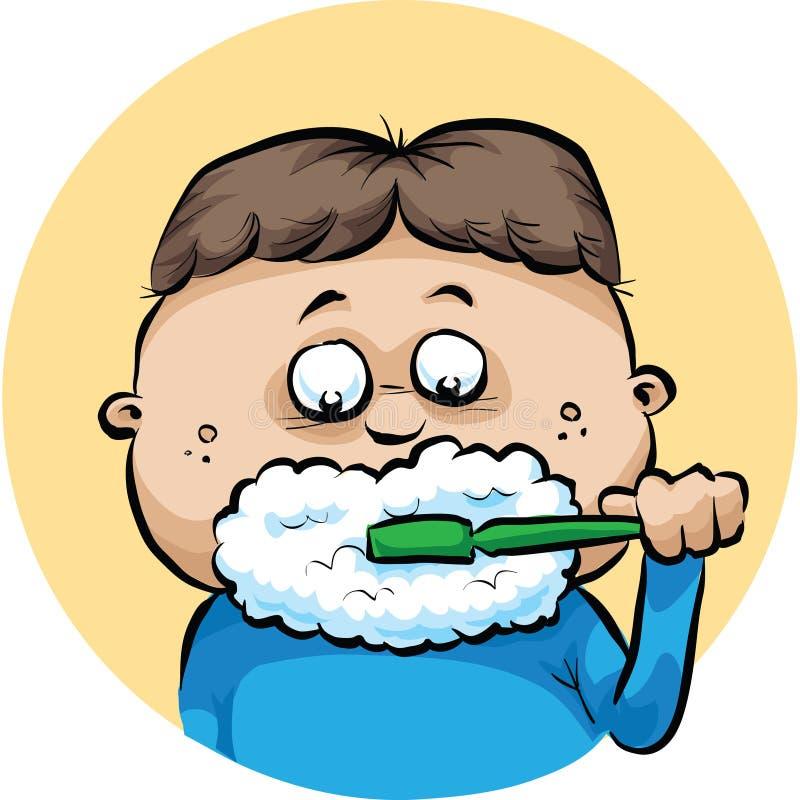 Brushing Teeth stock illustration. Illustration of ...
