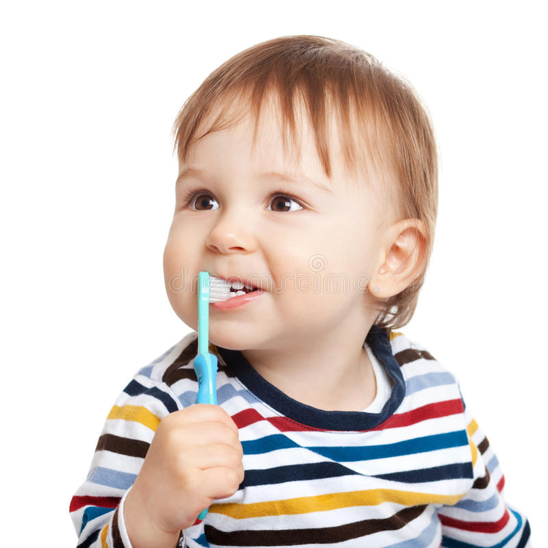 Download Brushing teeth is fun stock photo. Image of baby, learning - 23829342