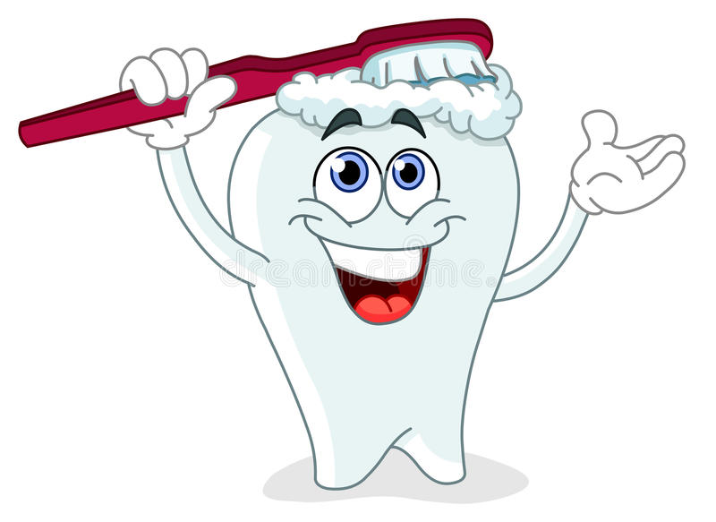 Brushing tooth stock illustration