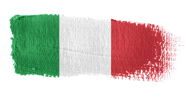 brushstroke σημαία Ιταλία απεικόνιση αποθεμάτων