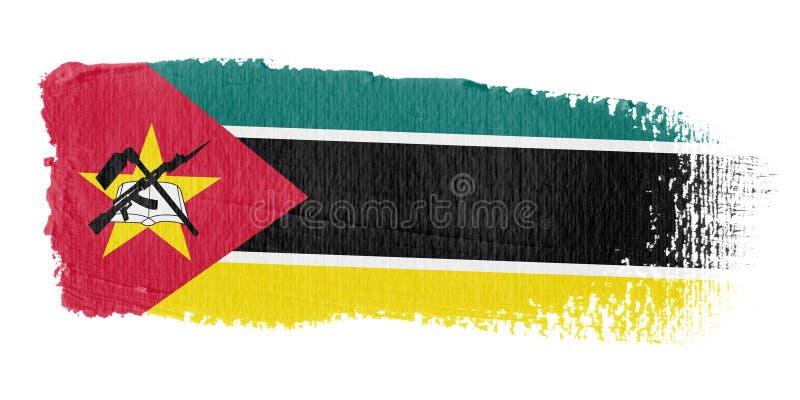 Brushstroke σημαία Μοζαμβίκη Στοκ Εικόνες