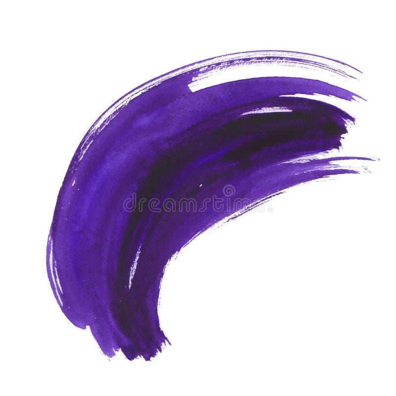 Brushstroke акварели ультрафиолетов сухой иллюстрация вектора