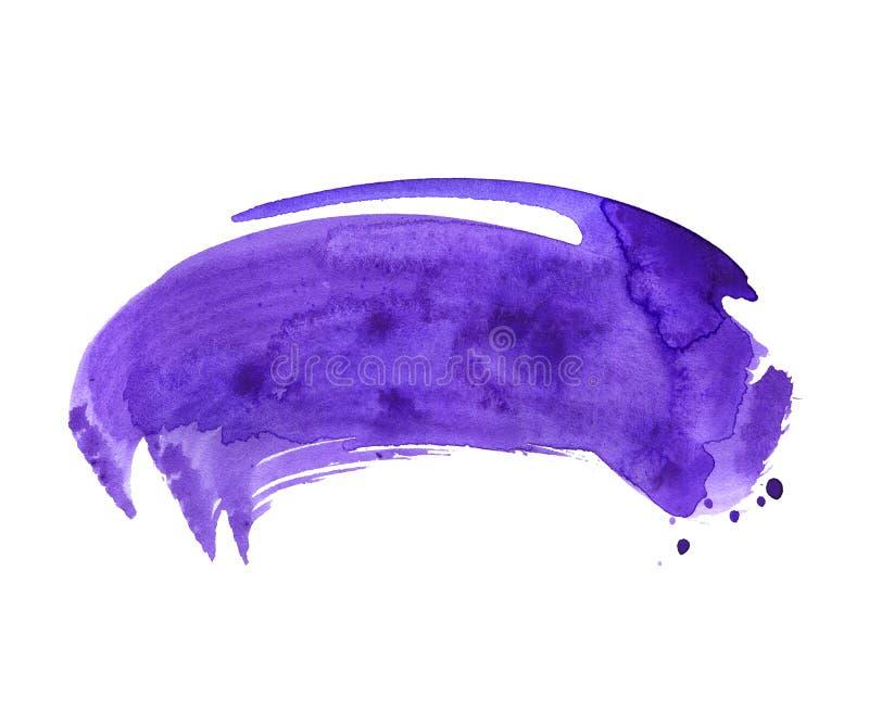 Brushstroke акварели ультрафиолетов сухой иллюстрация штока
