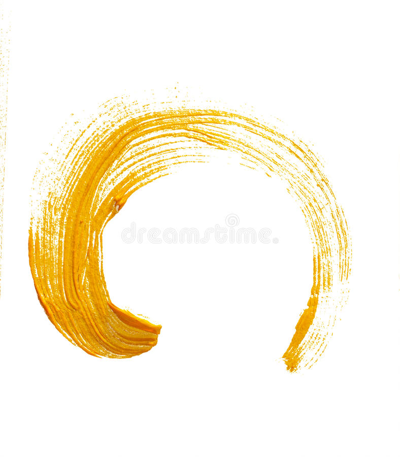 Brushstroke желтого grunge круглый бесплатная иллюстрация