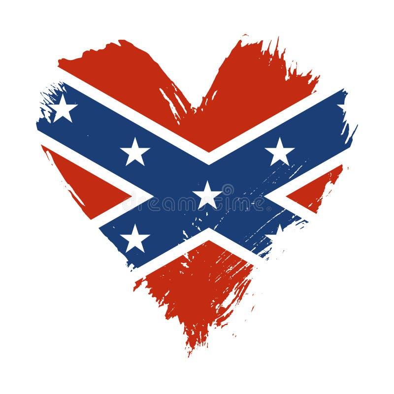Brushstroke покрасил флаг США американца Confederate бесплатная иллюстрация