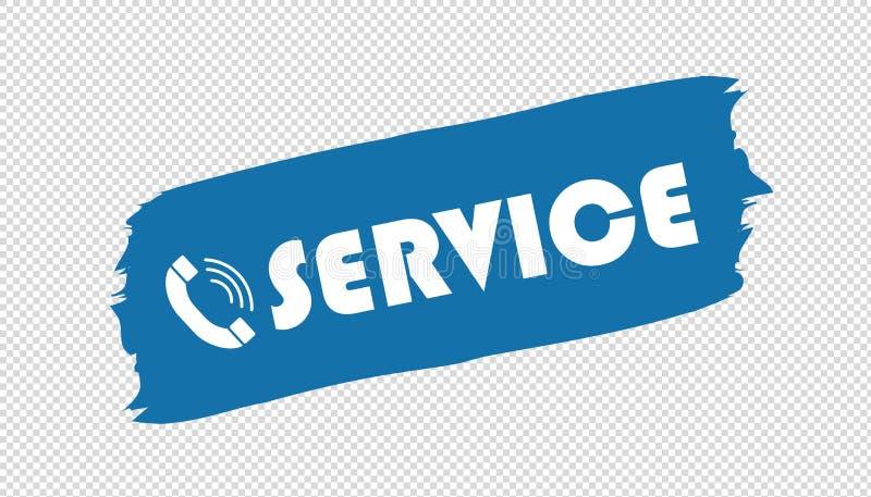 Brushstroke телефона обслуживания - голубая иллюстрация вектора - изолированный на прозрачной предпосылке бесплатная иллюстрация