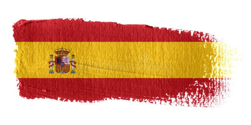 brushstroke banderą Hiszpanii ilustracji
