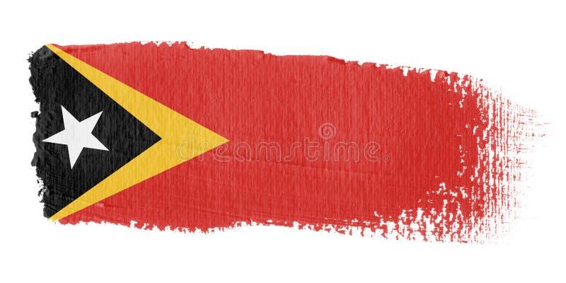 brushstroke east Timor flagę ilustracja wektor