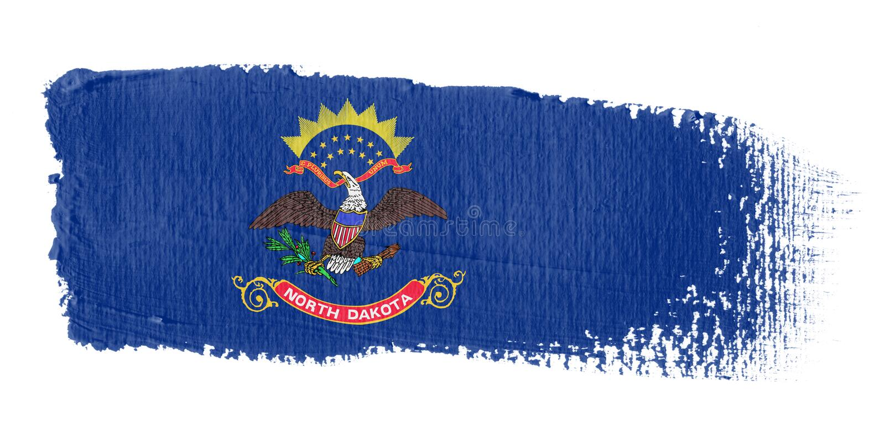 brushstroke flagę na północ Dakoty royalty ilustracja