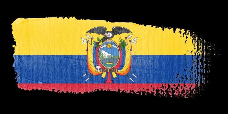 Download Brushstroke Flag Ecuador stock illustration. Image of brushstroke - 6990141