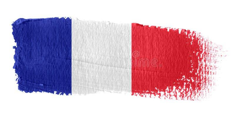 Brushstroke Flag France stock illustration