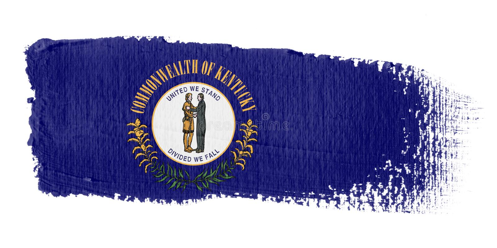 Download Brushstroke Flag Kentucky stock illustration. Image of banner - 4950369