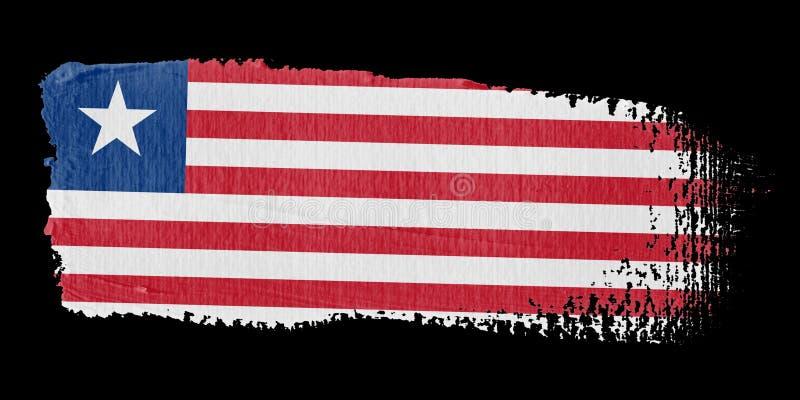 Download Brushstroke Flag Liberia stock illustration. Image of liberian - 7300362