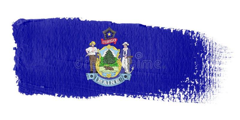 Download Brushstroke Flag Maine stock illustration. Image of tint - 4950452
