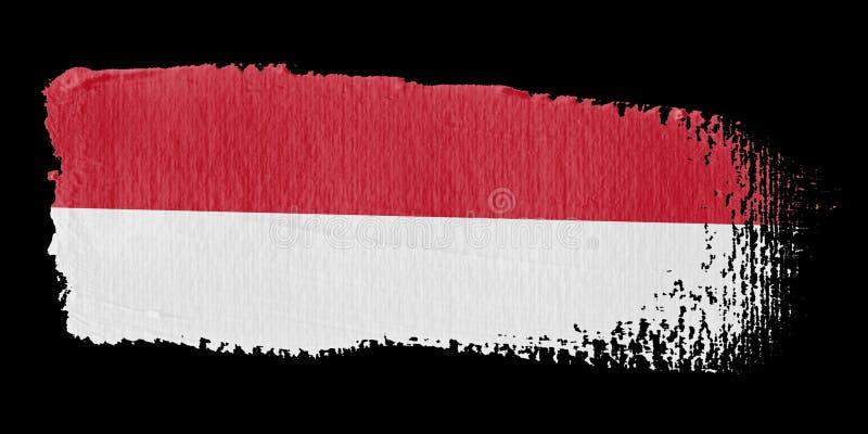 Brushstroke Flag Monaco