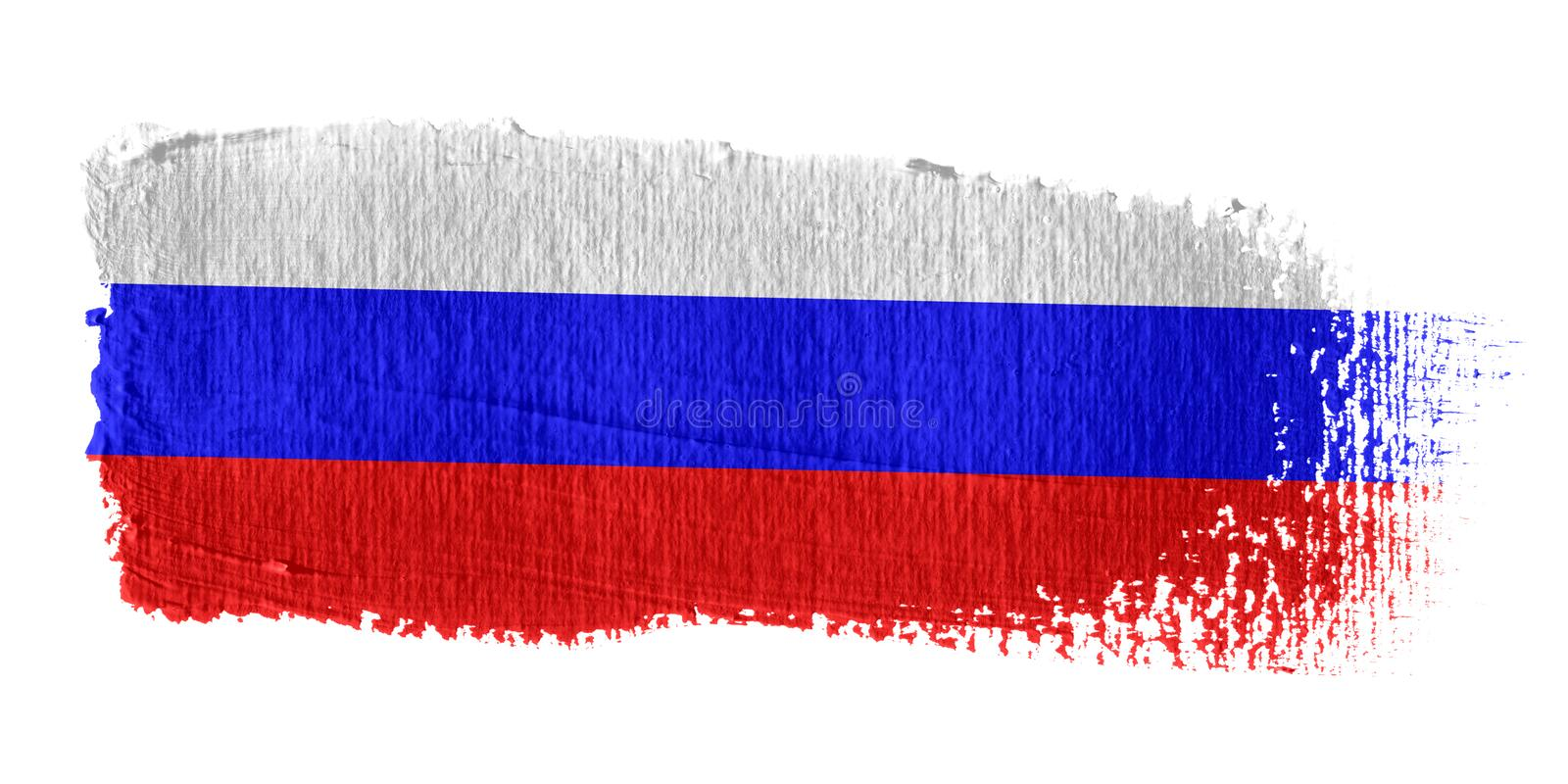 Download Brushstroke Flag Russia stock illustration. Image of russian - 4299507