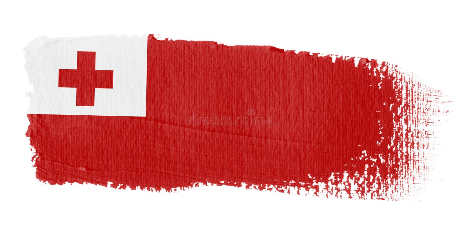 Brushstroke Flag Tonga stock illustration