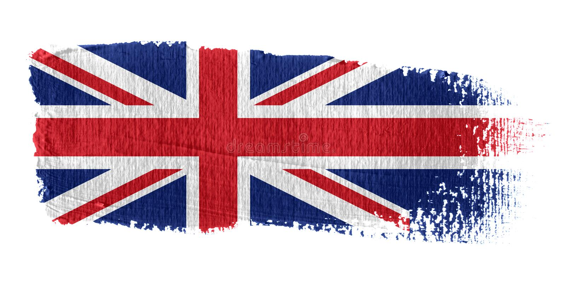 Brushstroke Flag Union Jack stock illustration