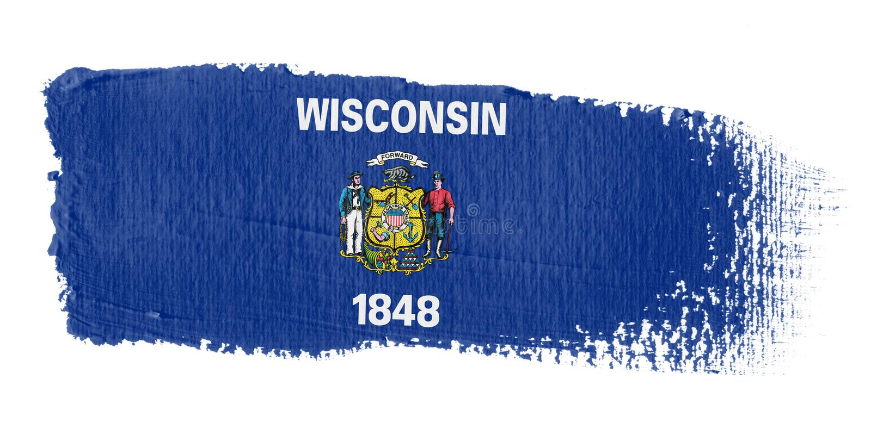 Brushstroke Flag Wisconsin vector illustration