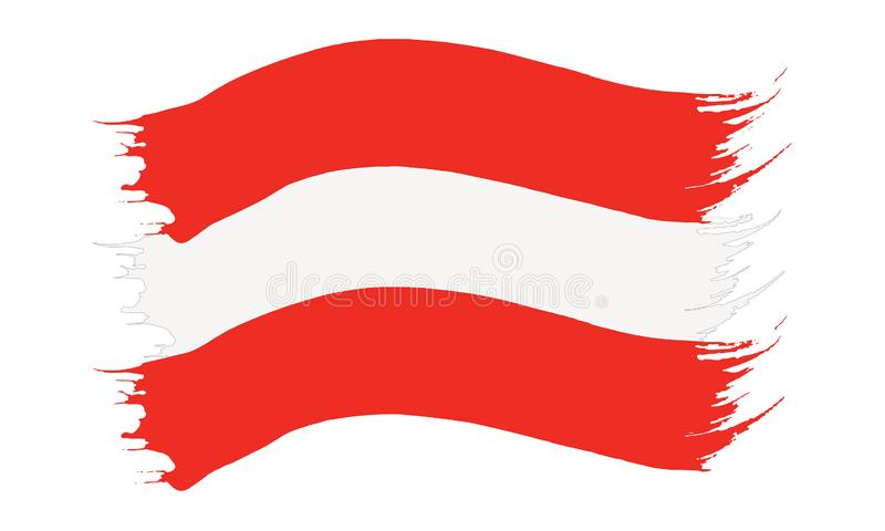Brushstroke malująca flaga Austria ilustracji