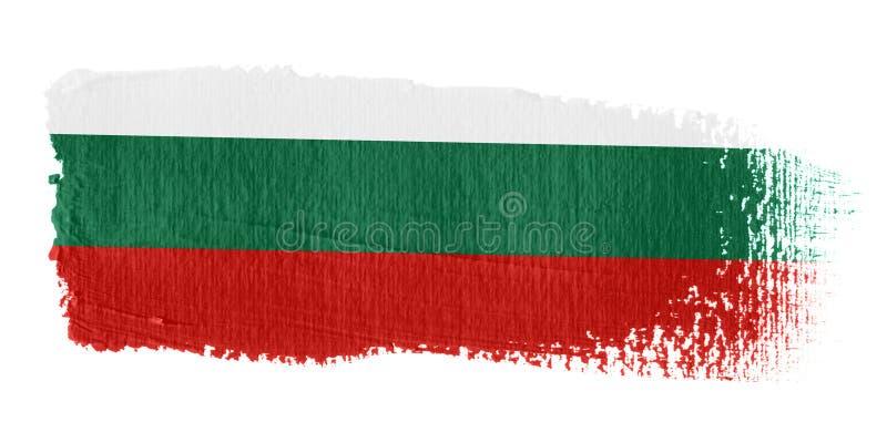 Brushstroke-Markierungsfahne Bulgarien stock abbildung