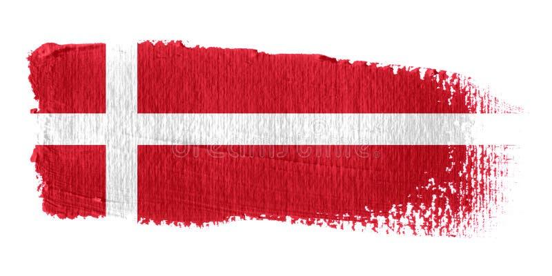 Brushstroke-Markierungsfahne Dänemark vektor abbildung