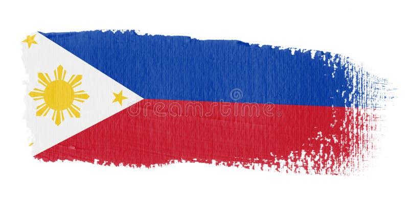 Brushstroke-Markierungsfahne Philippinen stock abbildung