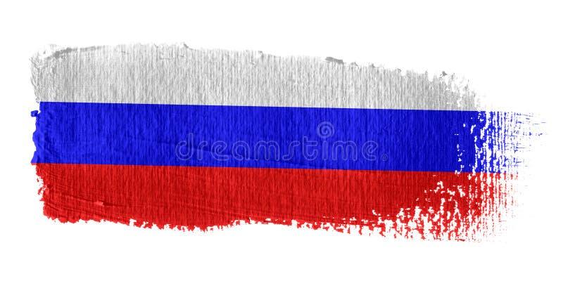 Brushstroke-Markierungsfahne Russland lizenzfreie abbildung