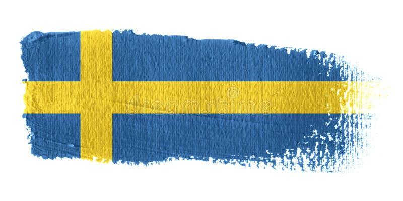 Brushstroke-Markierungsfahne Schweden vektor abbildung