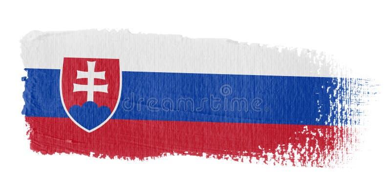 Brushstroke-Markierungsfahne Slowakei stock abbildung